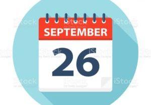 September 26 - Calendar Icon - Vector Illustration